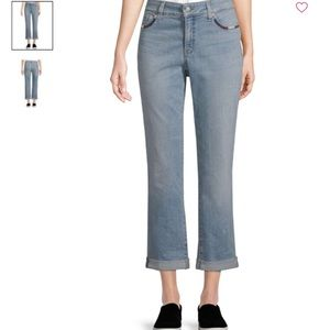 NYDJ Boyfriend Crop Jeans Light Blue 8 NWT